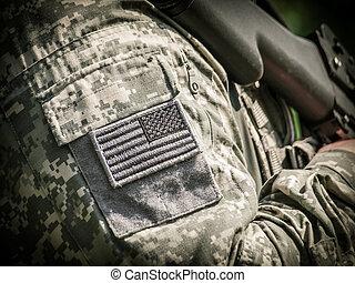 żołnierz, armia nas