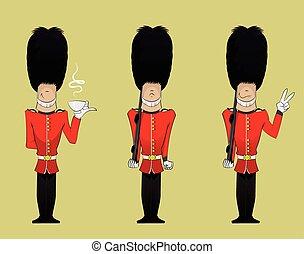 żołnierz, królowa, ilustracja