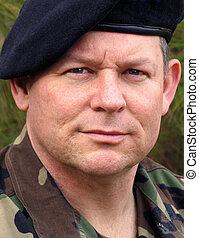 żołnierz, portret