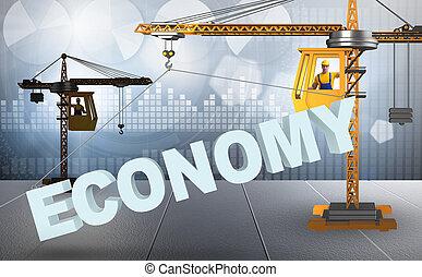 żuraw, zadzierając, ekonomia, słowo