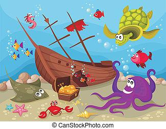 życie, morze