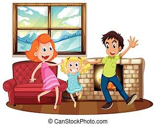 życie pokój, rodzina, szczęśliwy