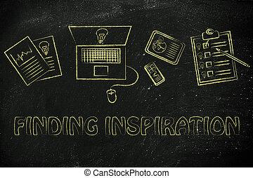 życie, praca, codzienny, odkrycie, twój, natchnienie