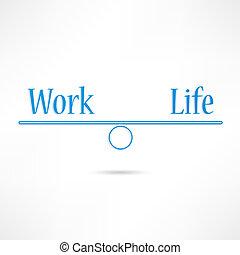 życie, praca, ikona