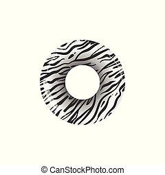 życie preserver, próbka, możliwy do napompowania, realistyczny, zebra, zwierzę skóra odcisk, ring