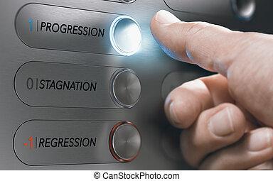 życie, wybory, i, zmiana, decisions., awans kariery