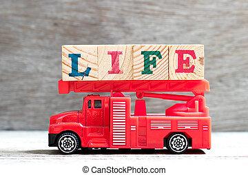 życie, zabawka, słowo, litera, ogień, drabina, drewno, wózek, tło, utrzymywać, kloc