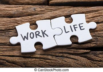 życie, zagadka wyrzynarki, praca, kawałki, pisemny, słówko