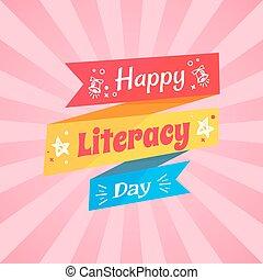 życzenie, wielobarwny, doodle, szczęśliwy, dzień, umiejętność czytania i pisania