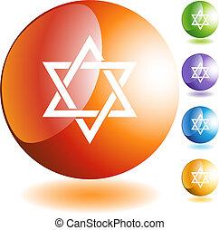 żydowska gwiazda, ikona