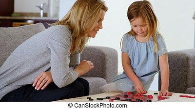 żyjący, córka, macierz, zabawki, 4k, interpretacja, pokój