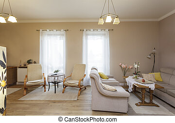 żyjący, klasyk, -, tuscany, pokój