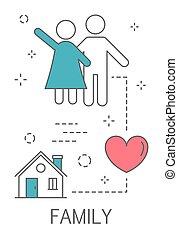 żyjący, miłość, rodzina, ludzie, concept., idea