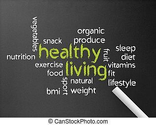 żyjący, zdrowy