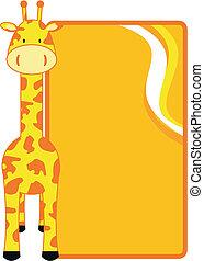 żyrafa, copyspace1