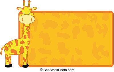żyrafa, copyspace3