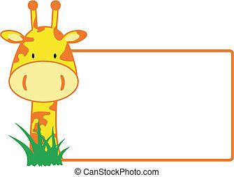 żyrafa, copyspace4