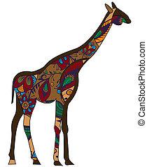 żyrafa, etniczny