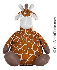 żyrafa, godny podziwu, tłuszcz, wypchany