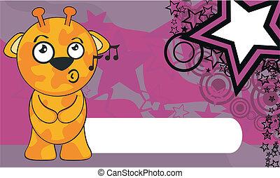 żyrafa, rysunek, background6