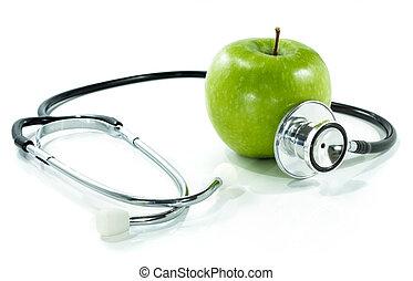 żywienie, asekurować, zdrowie, twój