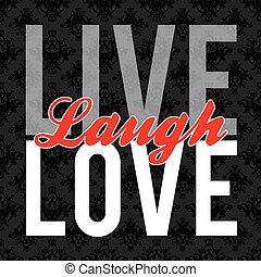 żywy, śmiech, miłość