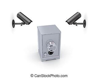 žehlička, cameras, pozorování, bezpečnostní schránka.