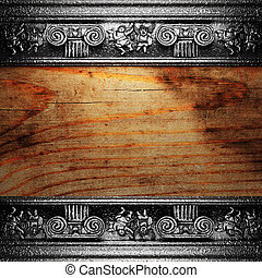 žehlička, dřevo, okrasa