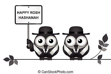 židovský, festival, hashanah, rosh