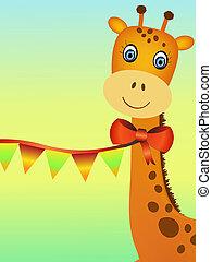 žirafa, ilustrace