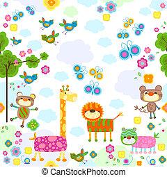 živočichy, grafické pozadí