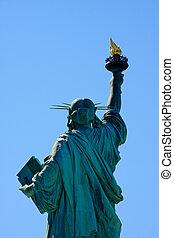 άγαλμα , πλευρά , ελευθερία , πίσω