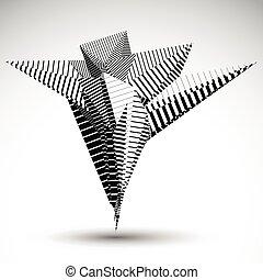 άγαλμα , projects., asymmetric , αντικείμενο , στοιχείο , lines., μπερδεμένος , eps8, αιχμηρός , ραβδωτός , παραλληλίζομαι , τεχνολογία , γεωμετρικός , αντίθεση , constructed