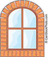 άγαρμπος εξωτερικός τοίχος οικοδομής , παράθυρο , τούβλο