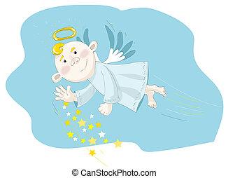 άγγελος , χαριτωμένος , μικρό
