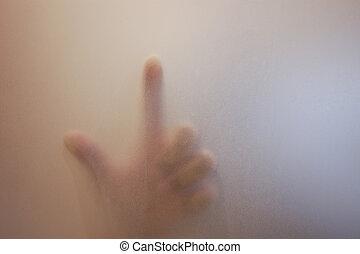 άγγιγμα , γυαλί , δάκτυλο