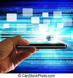 άγγιγμα , κινητός , οθόνη , τηλέφωνο