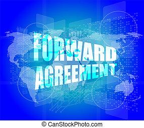 άγγιγμα , μπροστά , οθόνη , συμφωνία , επιχείρηση