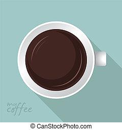 άγιο δισκοπότηρο από καφέ , διαμέρισμα , σχεδιάζω