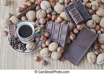 άγιο δισκοπότηρο από καφέ , με , σοκολάτα