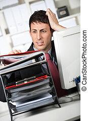 άγκιστρο για ανάρτηση εγγράφων , επιχειρηματίας