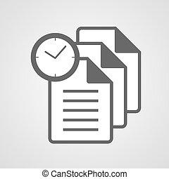 άγκιστρο για ανάρτηση εγγράφων , σύμβολο , ρολόι