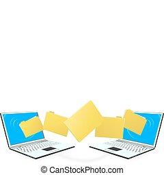 άγκιστρο για ανάρτηση εγγράφων , laptop , μεταβιβάζω , υπολογιστές