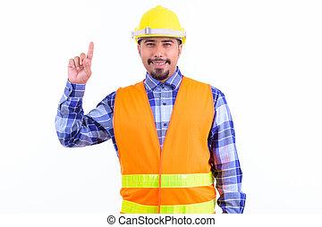 άγκιστρο στερέωσης ρούχων ανακριτού , γενειοφόρος , ευτυχισμένος , πέρσης , άντραs , δομή δουλευτής