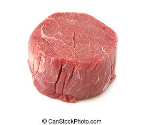 άγουρος μπιφτέκι , κρέας