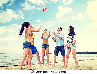 άθροισμα από γνωριμία , έχει αστείο , στην παραλία