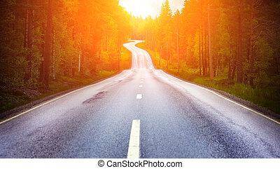 άκρη γηπέδου δρόμος