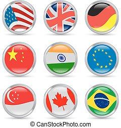 άκρη γηπέδου , σημαίες , απεικόνιση