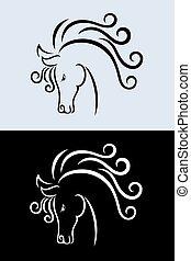 άλογο , κεφάλι