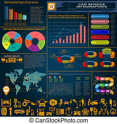 άμαξα αυτοκίνητο ακολουθία , επισκευάζω , infographics